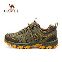 【领券满299减200】camel骆驼户外登山鞋 男女透气耐磨防滑低帮徒步鞋网鞋