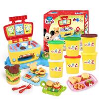迪士尼Disney 儿童彩泥 大厨机套装 过家家模具套装小麦泥橡皮泥黏土米奇男孩玩具DS-1618