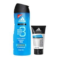 [当当自营] 阿迪达斯 运动后舒缓洗沐合一套装400ml+送50g男士泡沫洁面乳