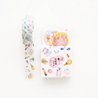 日本和纸胶带 原创和风水彩手帐胶带 相册日记装饰diy彩色胶带