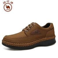 骆驼牌男鞋 秋冬新品 日常休闲皮鞋系带低帮摇摇鞋厚底增高