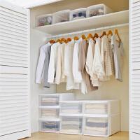 爱丽思IRIS 日本前开式收纳箱衣服塑料收纳箱 抽屉式 柜内整理箱