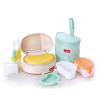 【当当自营】Pigeon贝亲 综合外出携带餐具套装 DA38 贝亲洗护喂养用品 宝宝餐具/婴儿餐具/儿童餐具