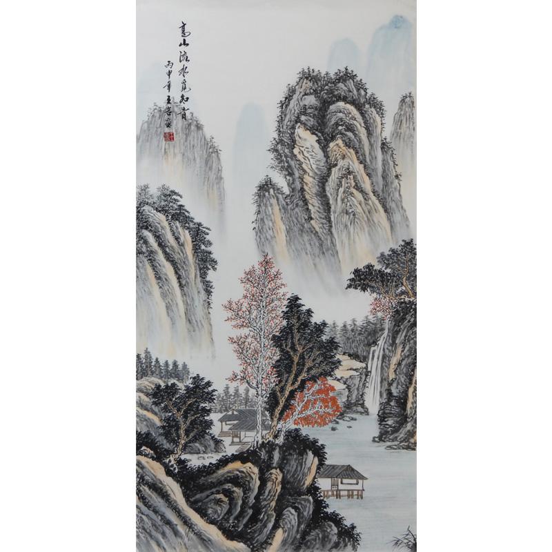 竖幅 高山流水觅知音 实力派画家 王岩