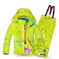 儿童滑雪服套装滑雪衣裤小中童防水防风冲锋衣冬装