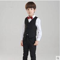 韩版合唱演出服钢琴演奏服花童礼服男儿童礼服男童马甲套装