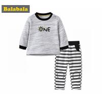 巴拉巴拉男婴儿套装小宝宝两件套长袖新生儿长袖衣服裤子秋新款潮
