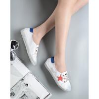 milkroses五角星装饰擦色小脏鞋