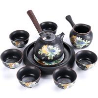 思故轩窑变黑檀木侧把茶壶茶杯礼盒 功夫茶具套装 陶瓷整套茶具