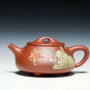 【只有一个】国家工艺美术师杨巧琴老师作品,石瓢壶,清水泥,340CC