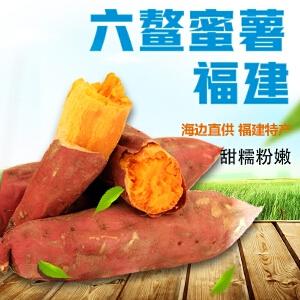 【福建特产】六鳌蜜薯5斤红薯地瓜包邮 25-30个 香糯可口