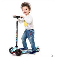 美观舒适防滑踏板车橡胶轮涂鸦滑滑车可升降四轮儿童滑板车