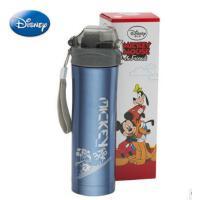 迪士尼新款不锈钢水壶 时尚宽嘴保温杯 儿童便携户外吸管杯