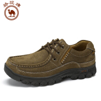 骆驼牌男鞋 新款日常休闲舒适耐磨男士鞋时尚低帮系带圆头