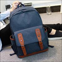 新款旅行日韩双肩包女学院风韩版潮复古书包中学生休闲男电脑背包