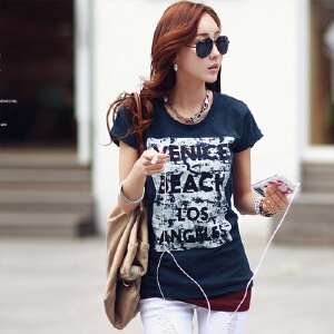 女装上衣t��打底衫韩版修身显瘦半袖纯棉短袖t恤小衫WK121