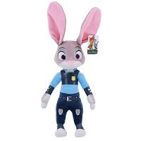 绒智 疯狂动物城公仔狐狸尼克疯狂的兔子朱迪毛绒玩具玩偶礼物电影周边 代写卡片