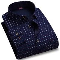 16新款秋冬保暖加绒加厚长袖衬衫男士花色格子商务休闲长袖衬衫大码休闲衬衫