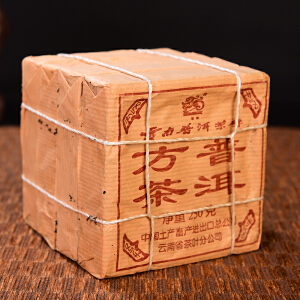 【4片;18年陈期老熟茶】90年代吉幸砖茶古树熟茶 250克/片