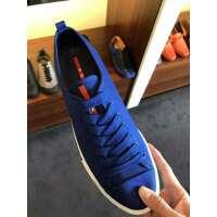 Prada 蓝色男士帆布鞋43.5码