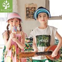 kocotree新款自然儿童帽子男女童帽子夏季潮儿童太阳帽小孩防晒遮阳帽春夏