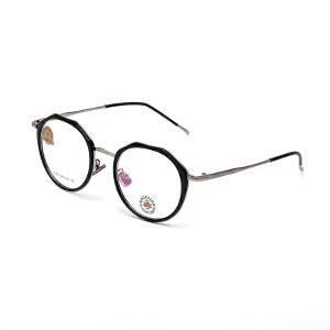 明治/KHDESIGN 圆形眼镜框女款韩版文艺复古平光镜圆框近视框架KS1743