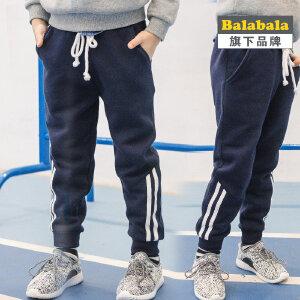 【6.26巴拉巴拉超级品牌日】【巴拉巴拉旗下】巴帝巴帝男童运动裤 2017春儿童针织系带长裤子
