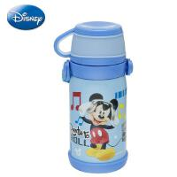 迪士尼304不锈钢保温杯 儿童乐学便携背带壶 学生个性创意杯子