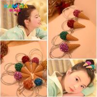 咔米嗒韩国儿童发饰发夹甜筒发卡女童头饰宝宝边夹可爱饰品