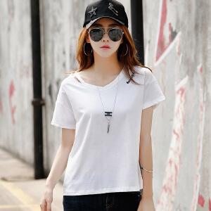 2017夏季新款上衣女装夏装短袖t恤女韩版宽松半袖打底体恤衫潮