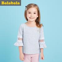 巴拉巴拉儿童短袖T恤 女小童宝宝衣服2017夏装 童装女童打底衫半袖