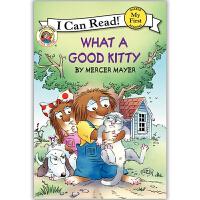 原版儿童英文绘本I Can Read Little Critter小怪物系列之What a Good Kitty 多好的猫咪!送音频请联系客服