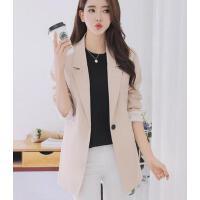 小西装女 外套 新款韩版修身显瘦中长款长袖小西装女装大码上衣外套
