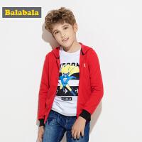 巴拉巴拉童装男童外套中大童外衣秋装2017新款连帽长袖儿童卫衣潮