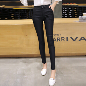 夏季薄款高腰紧身弹力显瘦铅笔裤小脚裤打底裤外穿女长裤LB605