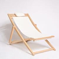 【听风躺椅】实木红橡折叠休闲逍遥椅 清凉一夏懒人沙发