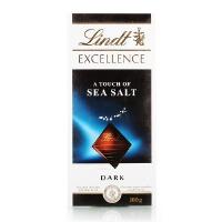 [当当自营] 德国进口 瑞士莲 特醇排装 海盐味黑巧克力100g