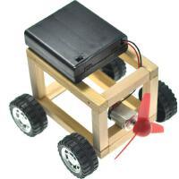 BX 手工木条版风力车模型玩具DIY儿童创意科小技制作物理玩具车01号