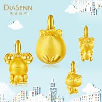 DIASENN/德诚珠宝黄金3D硬金吊坠时尚可爱足金首饰布偶熊系列