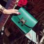 芭特莉【支持礼品卡】2017夏季新款女包小方包迷你包链条包女士单肩包斜挎包斜跨小包包 BLD#247