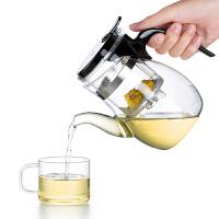 尚明飘逸杯茶道杯耐热玻璃茶具 高硼硅可拆洗过滤纯手工玻璃泡茶壶玲珑杯