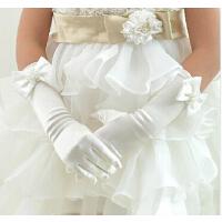 儿童礼服手套礼仪手套 时尚公主裙配饰 圣诞节粉红色女童婚纱手套