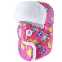 儿童帽子冬季保暖防寒宝宝雷锋帽冬天护耳口罩男童女童帽