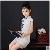 女童旗袍新款儿童中国风童装连衣裙宝宝小女孩公主裙儿童服装支持礼品卡支付
