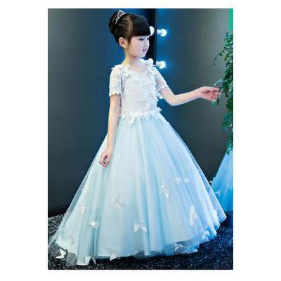 儿童礼服公主裙 婚纱拖尾长裙 花童礼服蓬蓬裙女童六一演出服