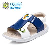 大黄蜂童鞋 2017男童夏季新款凉鞋 男童沙滩鞋小童凉鞋透气韩版潮