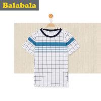 巴拉巴拉童装男童短袖t恤中大童上衣 2017夏新款儿童打底衫男半袖