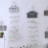御目 挂件 田园家居客厅卧室门上挂饰酒吧服装店墙面室内背景墙装饰品个性木质玻璃吊瓶门帘