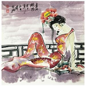 薛林兴《贵妃醉酒》国家一级美术师