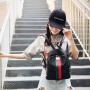 芭特莉【全店支持礼品卡】双肩包女2017新款韩版潮流迷你背包撞色铆钉